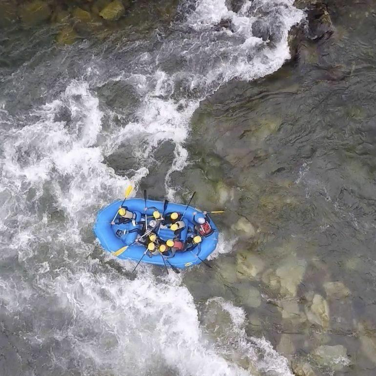 Rafting vu d'en haut