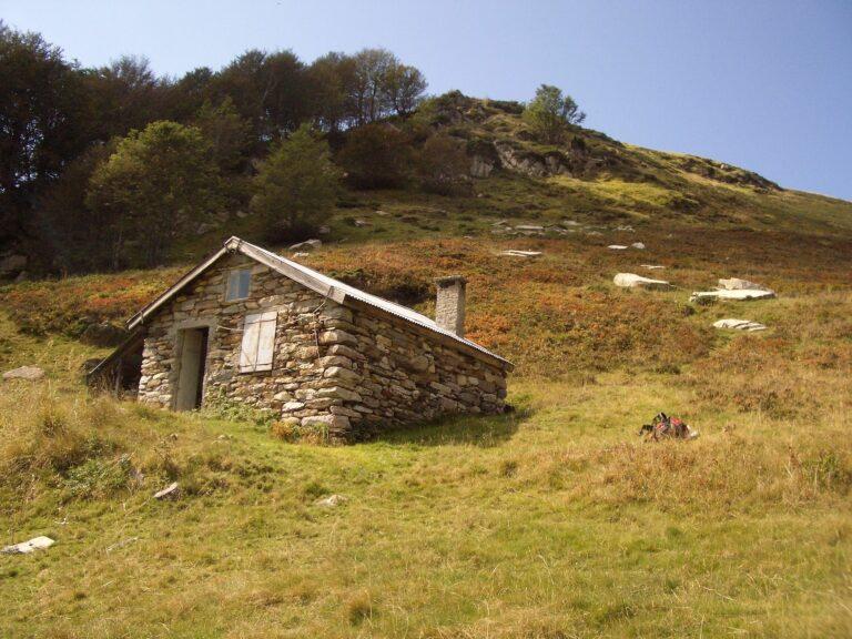 Cabane d'Argut en été-trace d'ours