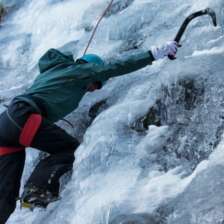 Ascension cascade de glace