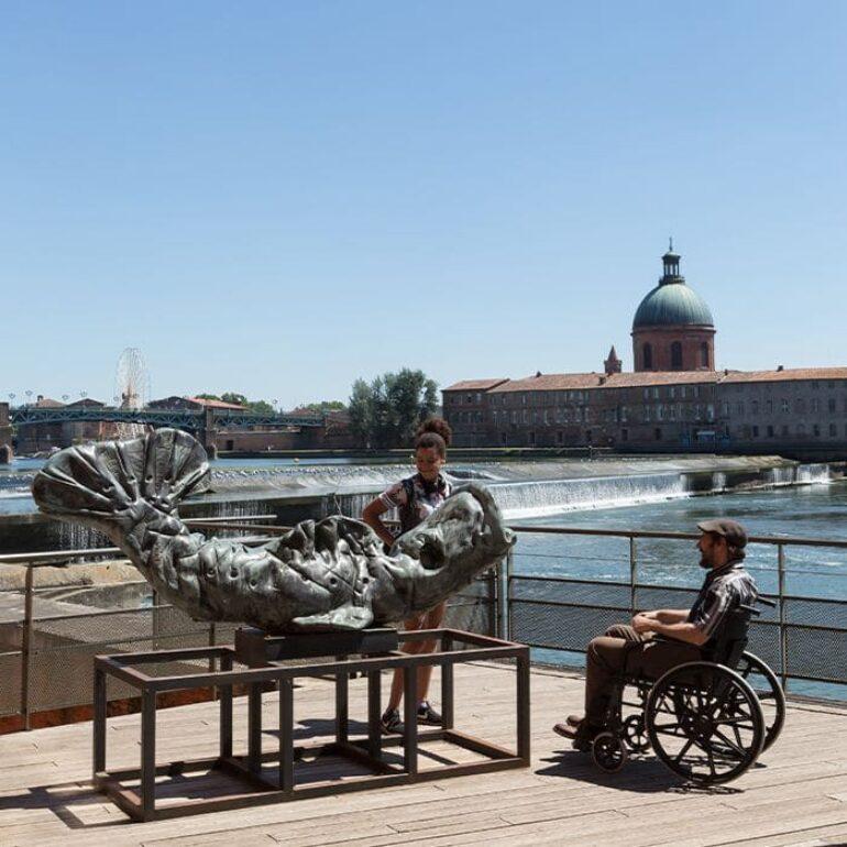 Accès handicapé au Bazacle-Toulouse ©ManuelHuynh-CDT31